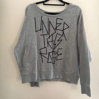b + ab Grey Loose Sweater With Pockets