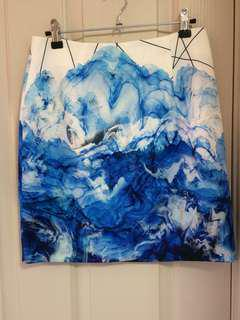 BlueJuice Marble Print Skirt🌊☁️💙