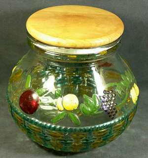 Rare collectible Italian Designer Made Fruit Pickle 3 L Glass Jar