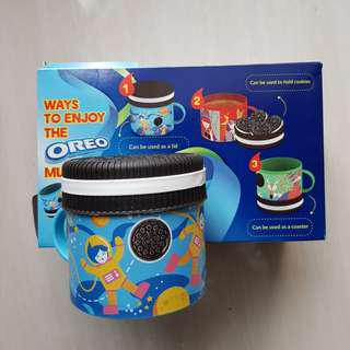 "1No. OREO Cookies Melamine Biscuit CUP MUG 2018 3"" Tall Space Design"