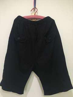 🚚 韓版黑色口袋哈倫褲