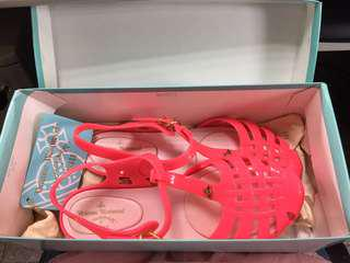 🚚 Vivienne Westwood x Melissa 桃紅色涼鞋 38號