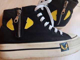 Sneaker black shoes size 37