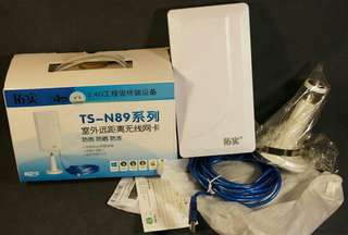 Long Range 2.4G Outdoor USB WiFi Adapter 150Mb Gr8 Hot Spot 4 Farm etc