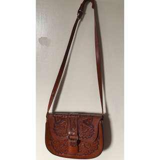 Floral Leather Bag