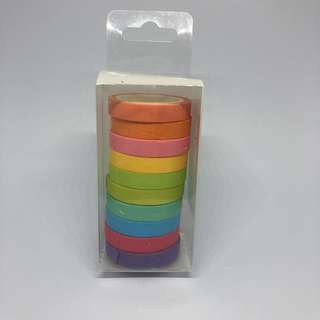 Set of 10 Candy Color Paper Tapes
