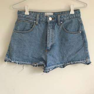 A Brand Denim Shorts Size 8