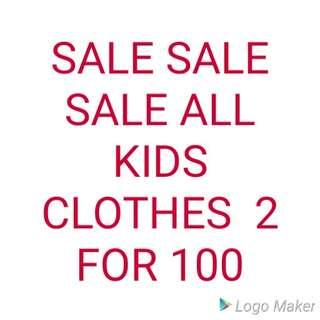Buy 2 kids clothes for 100 only