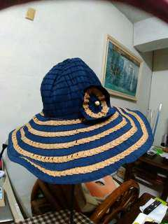🚚 全新含運…緞帶紙編遮陽帽