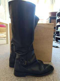 Black genuine leather boots #JULY50