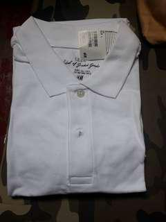 ❤H&M WHITE POLO SHIRT BRANDNEW WITH TAG