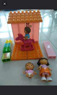 Preloved Dora playset
