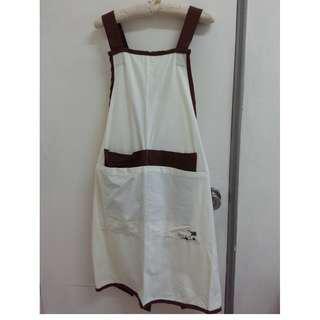 生活工場 純棉 幸運草刺繡圍裙