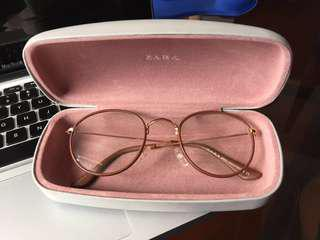 Zara Eyeglasses - Thin Brown Leather Frame