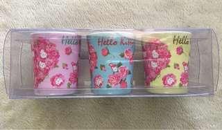 Hello Kitty Minicup Set of 3