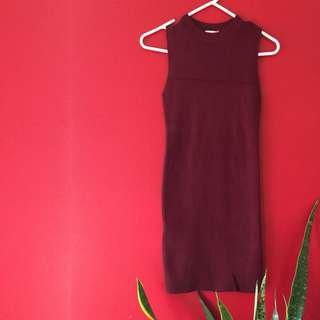 Bodycon dress (burgundy)