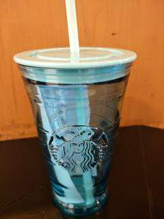 Cold cup 16oz blue glass
