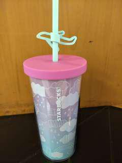 Cold cup 12oz cloud plastic