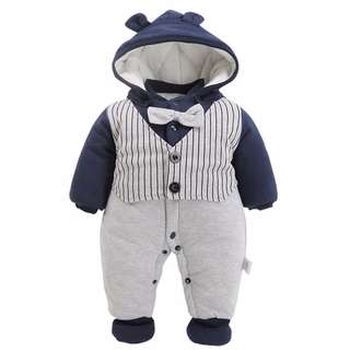 Gentleman Baby boy Romper /Winter Jumpsuit