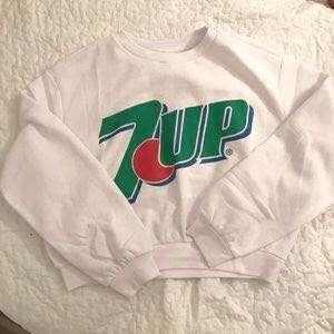 H&M 7up crop sweater ORI100%