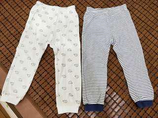 🚚 麗嬰房幼兒薄棉褲24M(二件組)