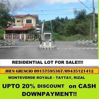 Hulugang Lote sa Executive Village sa Taytay Rizal