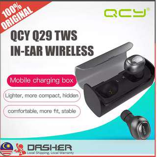 [HOTTEST🔥] QCY Q29 TWS Charging Case Dual Bluetooth Earphone Wireless Earbuds Music Strong BASS Stereo Airpods