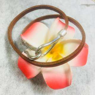 🚚 全新💖日本帶回皮繩手環