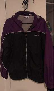 Fila purple hoodie jacket
