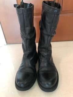 i.t. 全真皮中筒boots