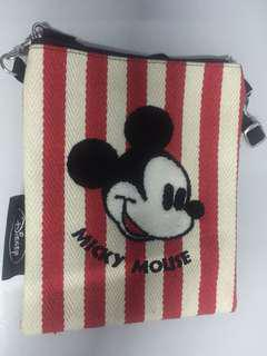 Mickey stripes sling bag