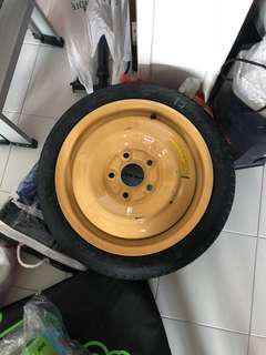 T125/70D/15 spare tyre rim