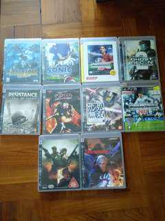 PS3 Games (winning, bio hazard 5)  10 隻game 碟