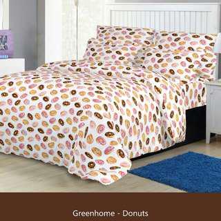 Promo bed cover green deco 160x210cm