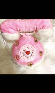 🚚 毛毛超可愛電話擺飾品