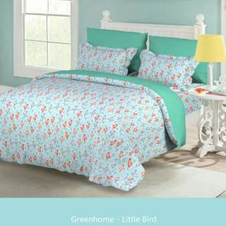 Promo bed cover Green deco size 160x210cm