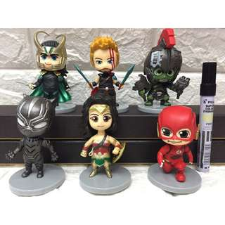 Set of Marvel & DC Nendo