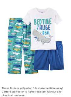 Brand New 3 Pcs Poly PJ Whale Set