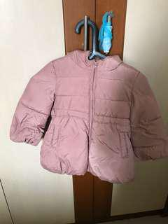 Jaket winter dusky pink