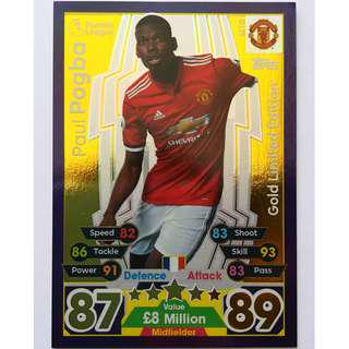 (BW) Match Attax 17/18 Paul Pogba Gold Ed (Free Lukaku )