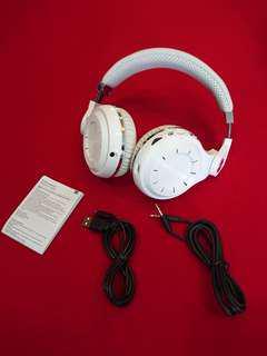Original White Bluedio T2+ Turbine Hurricane Headphone bluetooth FM Radio SD Card