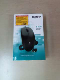 New Logitech USB 有綫光學滑鼠 鼠標 Wired Optical Mouse B-100