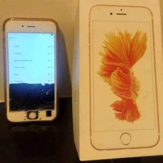 iPhone 6S (Sim Locked & LCD Cracked)
