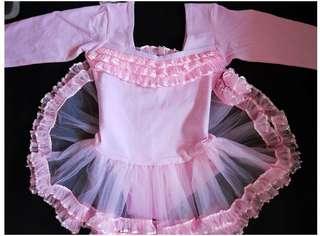 New Pink ballet dress 全新長袖女童芭蕾舞裙 粉紅色