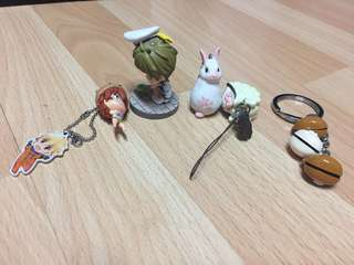 Anime Charms and Figures