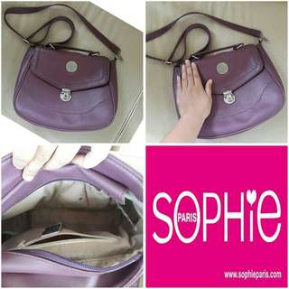Sophie Martin Paris Sling Bag Purple