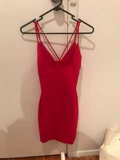 Slaying hearts mini dress red