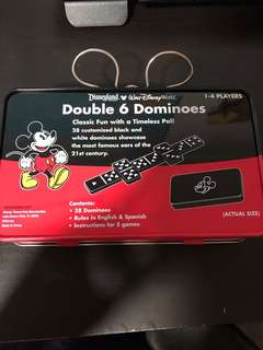 Disneyland double 6 dominoes