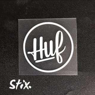 Huf Vinyl Cut Sticker