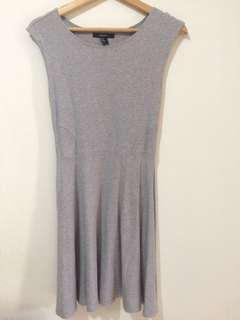 Forever21 flare dress abu abu / grey